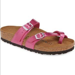 NIB Birkenstock Mayari Metallic Magenta Sandals
